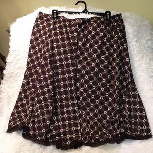 Cute Max Studio Fringed Circle Skirt